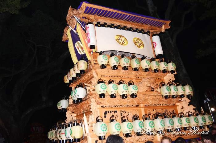 祭り提灯 御所通屋台(だんじり) 西条祭り 伊曽乃神社祭礼 愛媛県西条市