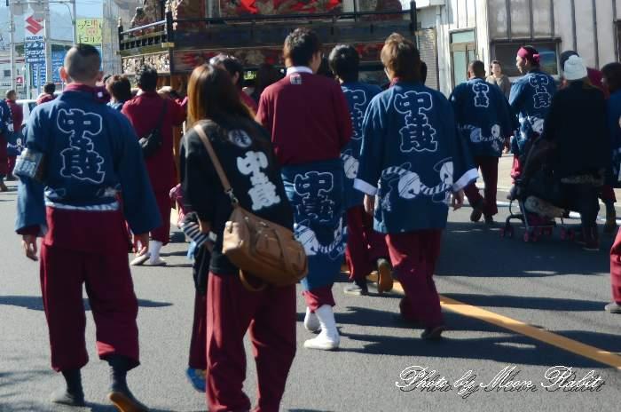 中の段だんじり(屋台) 祭り装束 西条祭り 伊曽乃神社祭礼 愛媛県西条市
