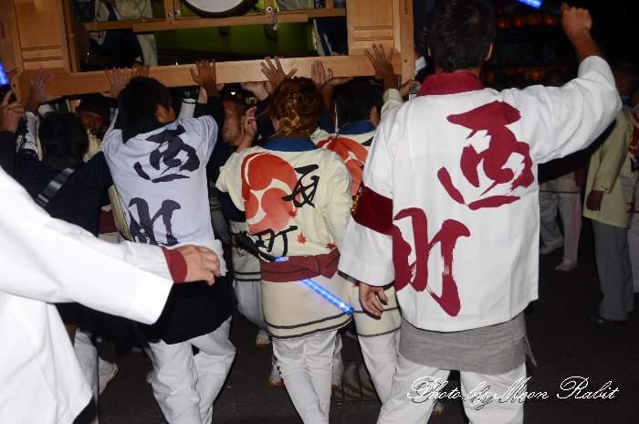 西町だんじり(屋台) 祭り装束