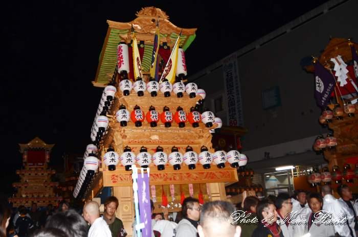 西条祭り前夜祭 清水町だんじり(屋台)