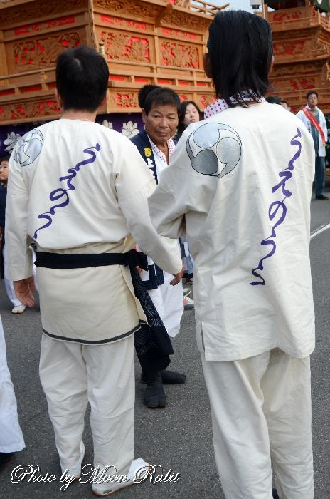 上の浦だんじり(屋台) 祭り装束