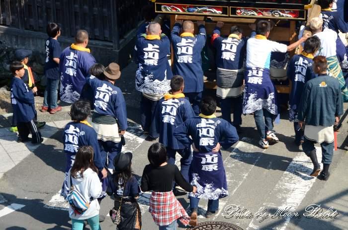 上川原だんじり(屋台) 祭り装束 西条祭り