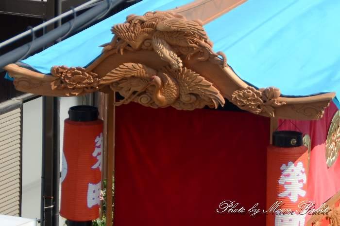 だんじり天幕・破風 栄町上組屋台(だんじり) 西条祭り