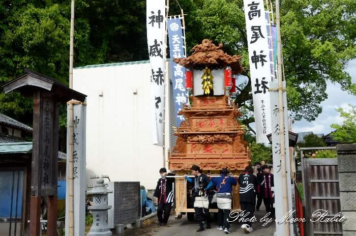 高尾神社春祭り 御神幸祭 上之川屋台(上の川だんじり)