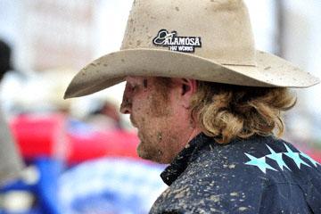 blog 24 D3S Oakdale Rodeo, Bareback Bronco 8, Pickup Man, Rick Moffatt_DSC5363-4.10.16.(2).jpg