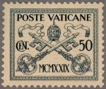 ヴァティカン最初の切手