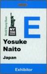 ニューヨーク展・IDカード