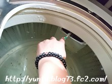 洗濯槽の掃除風景(1)