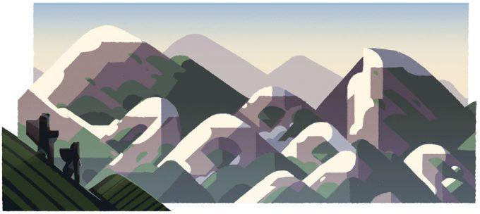 山の日 昼
