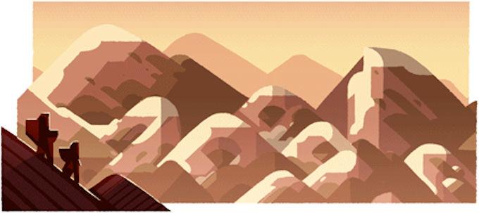 山の日 夕
