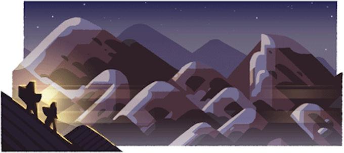 山の日 夜