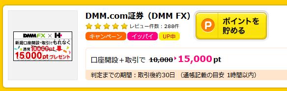 DMMFX15000円