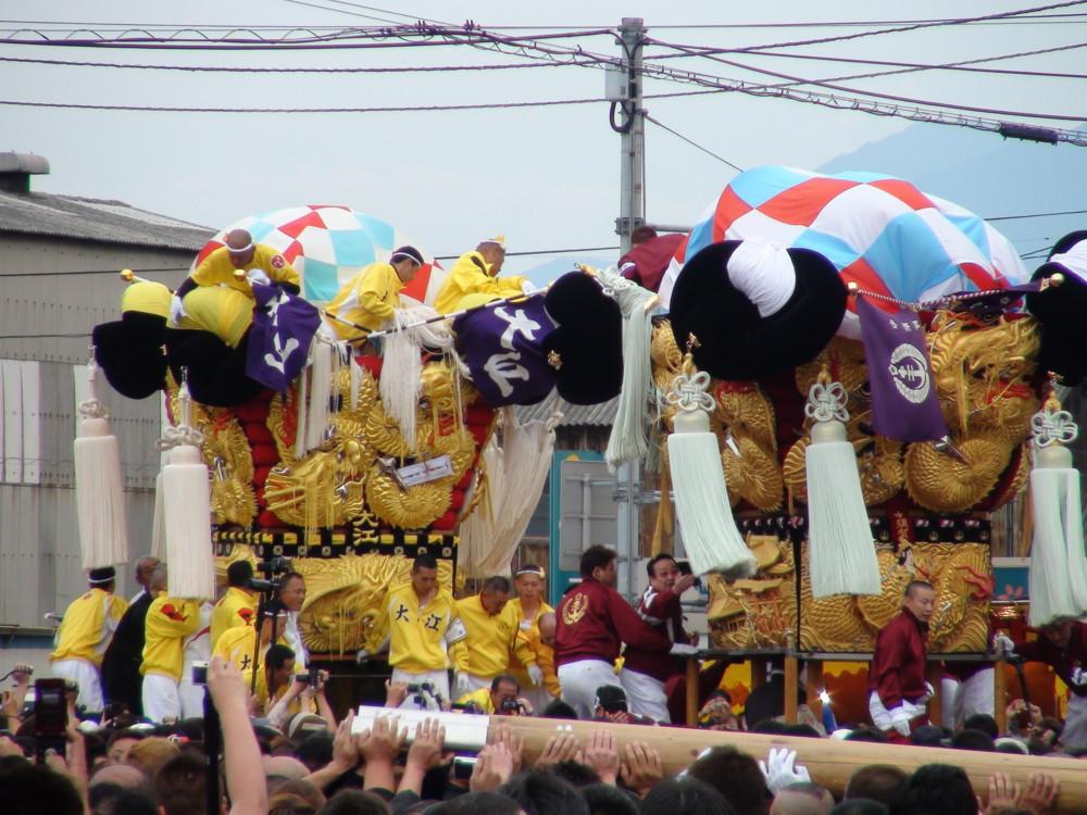 大江と中須賀太鼓台の喧嘩