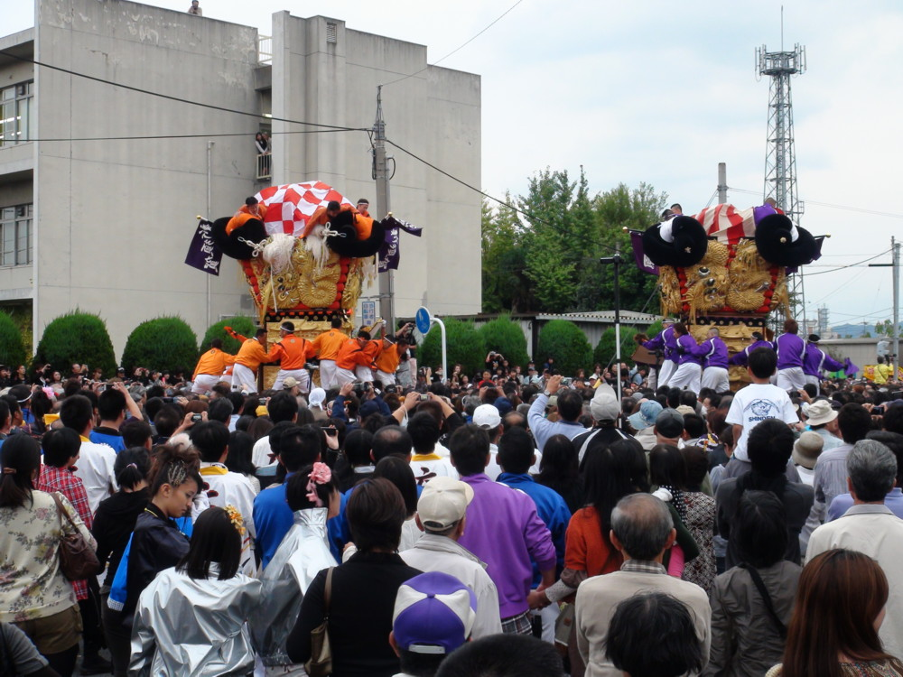 新須賀太鼓台と西原太鼓台の喧嘩