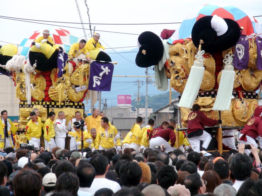 大江太鼓台vs中須賀太鼓台