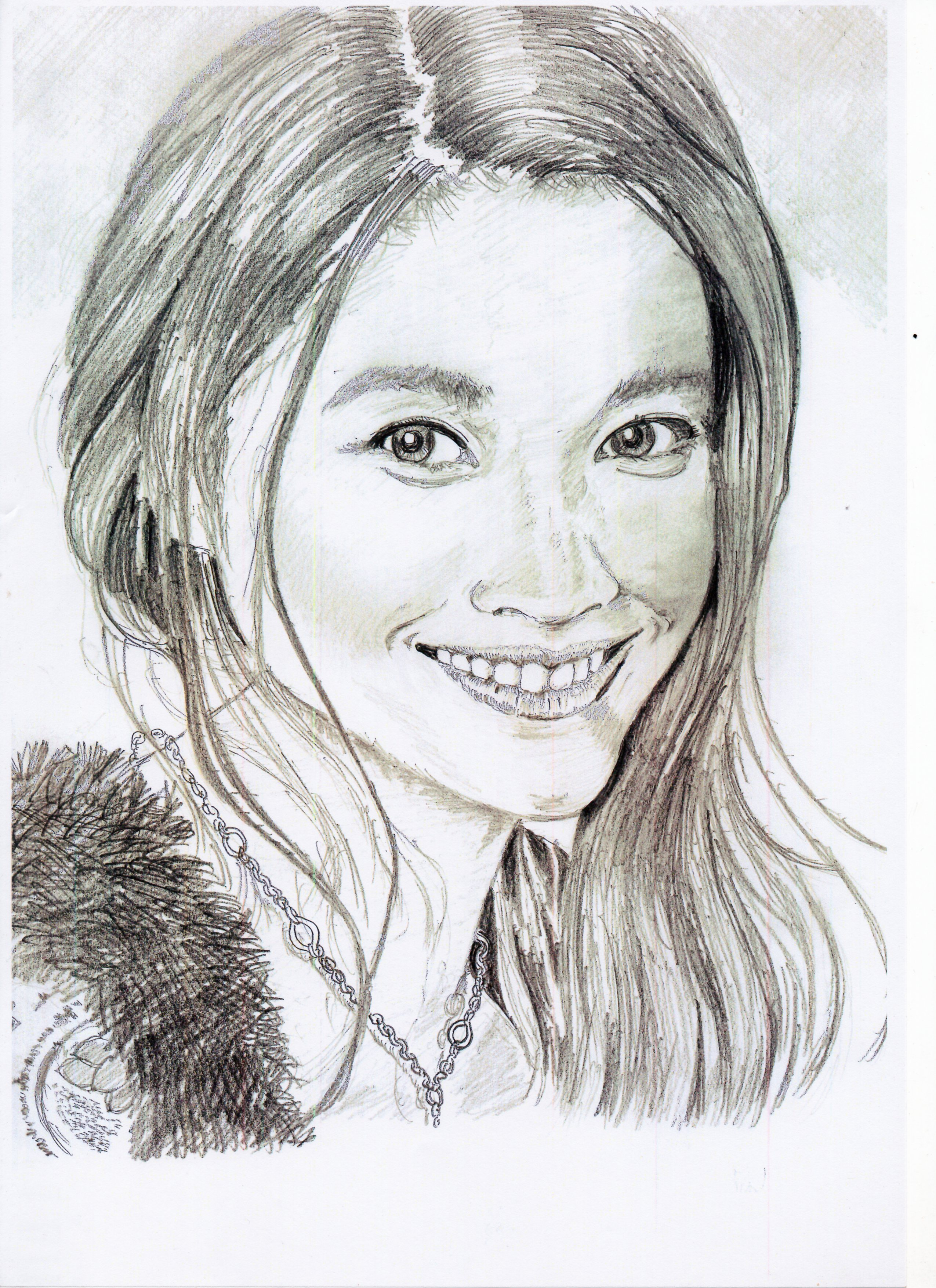 篠原涼子の鉛筆画