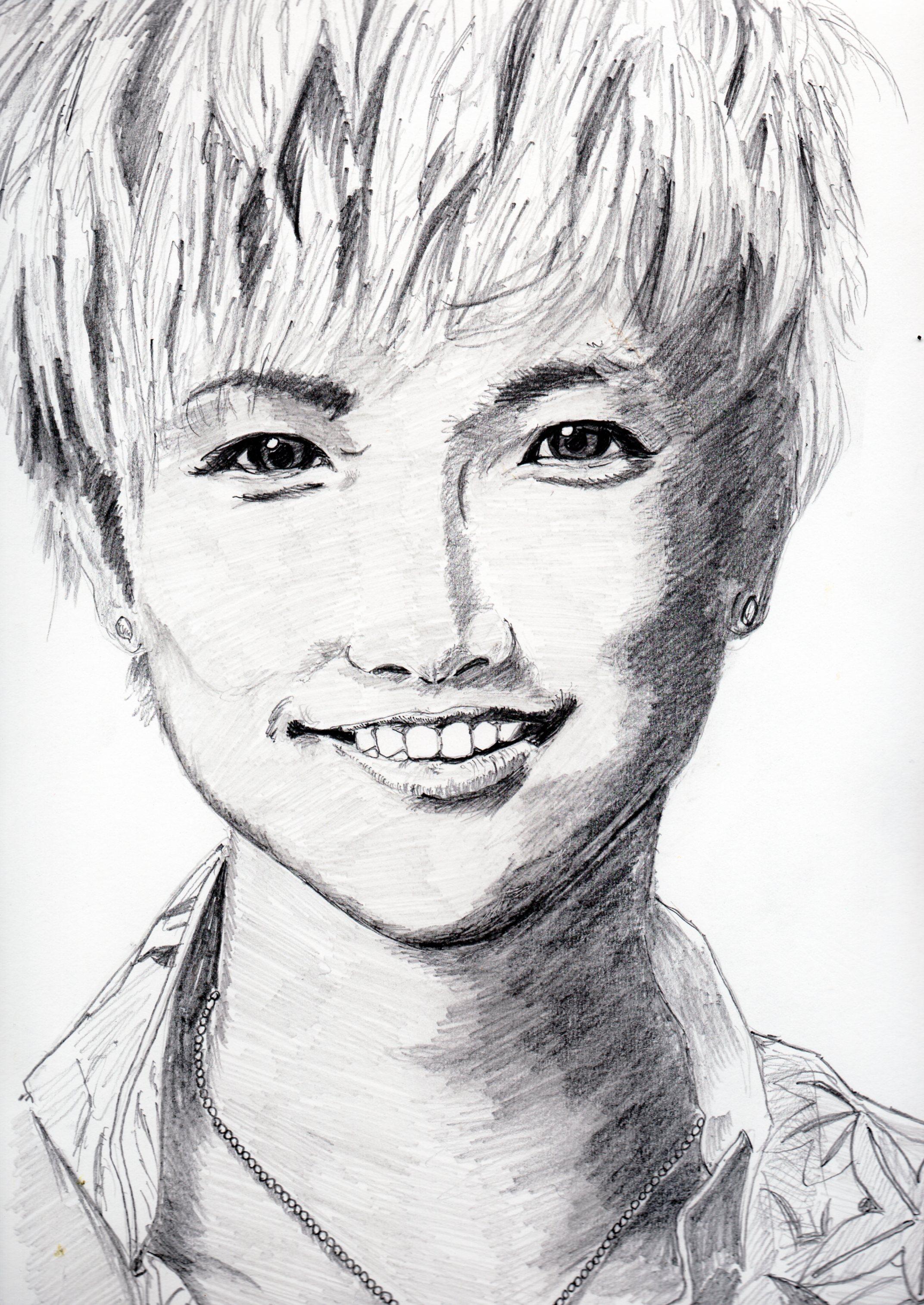 岩田剛典の鉛筆画似顔絵