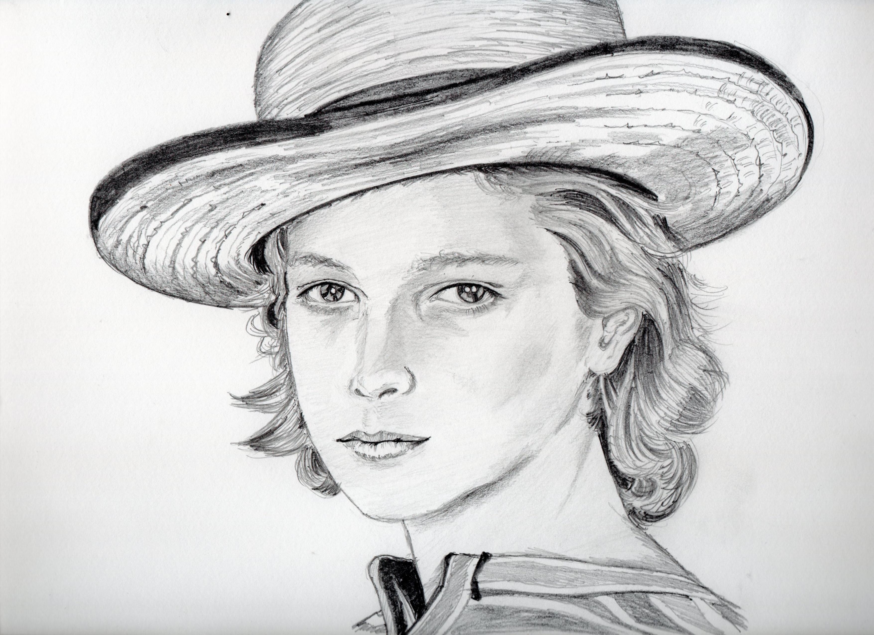 ビョルン・アンドレセンの鉛筆画、ビョルン・アンドレセンのリアル似顔絵