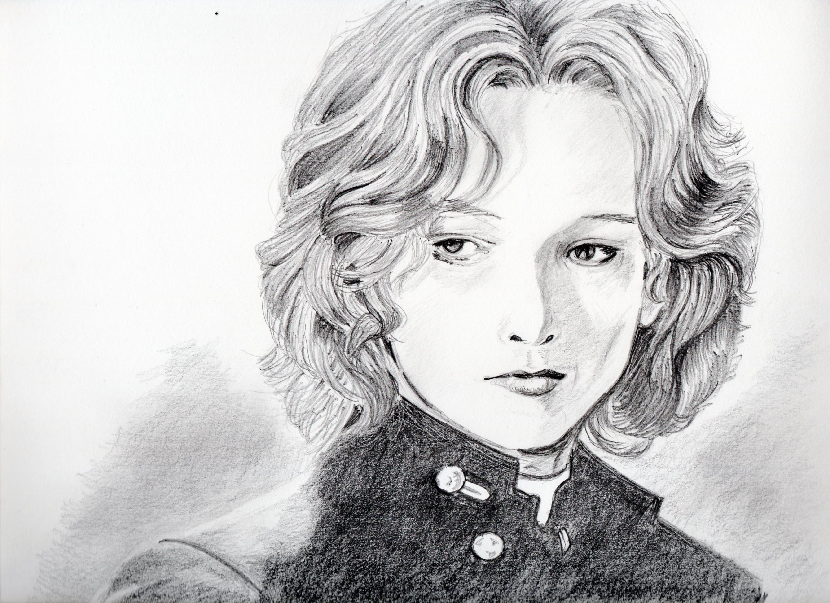 ビョルン・アンドレセンの鉛筆画、ビョルン・アンドレセンのリアル似顔絵、