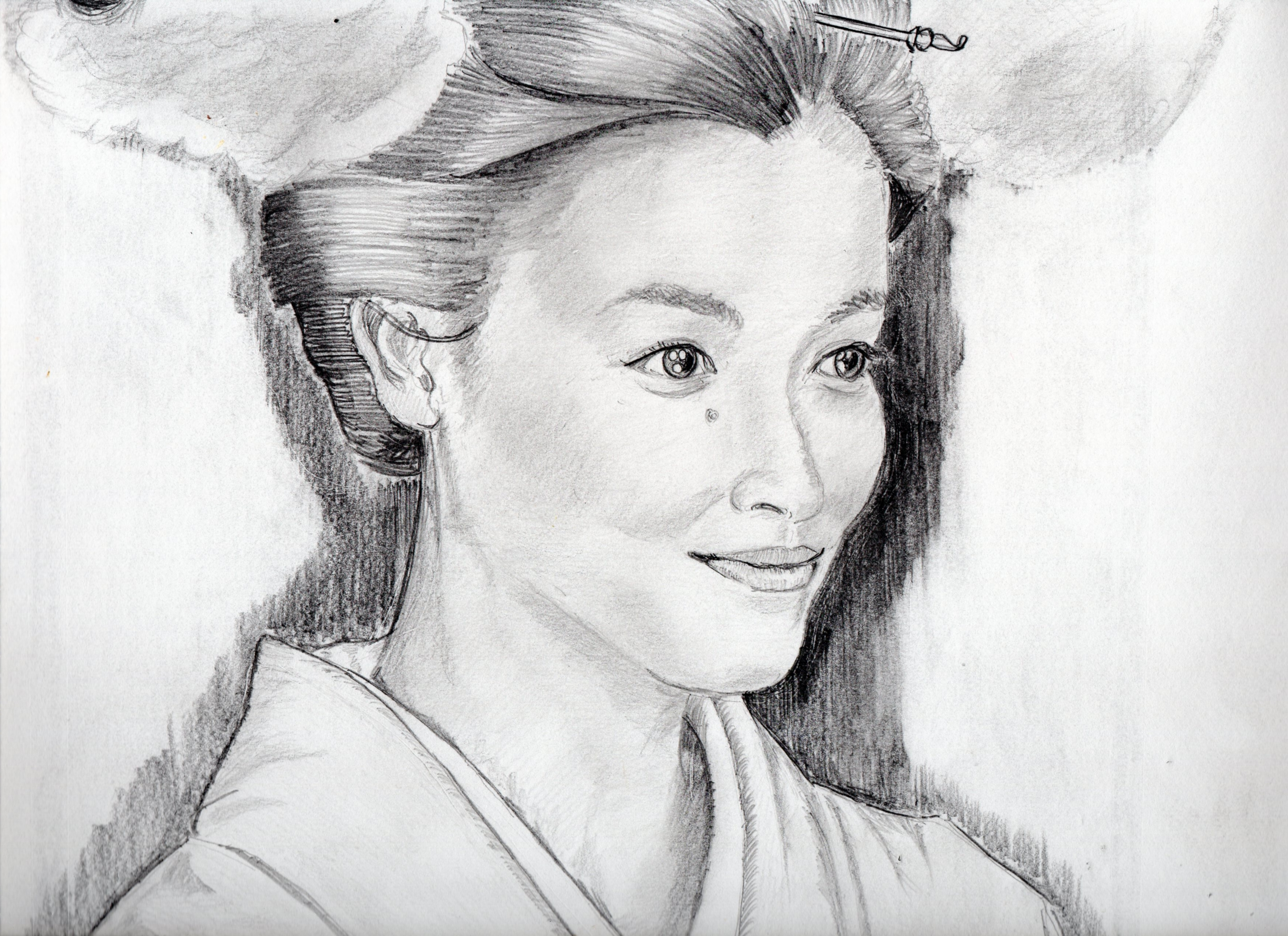 宮沢りえの鉛筆画似顔絵