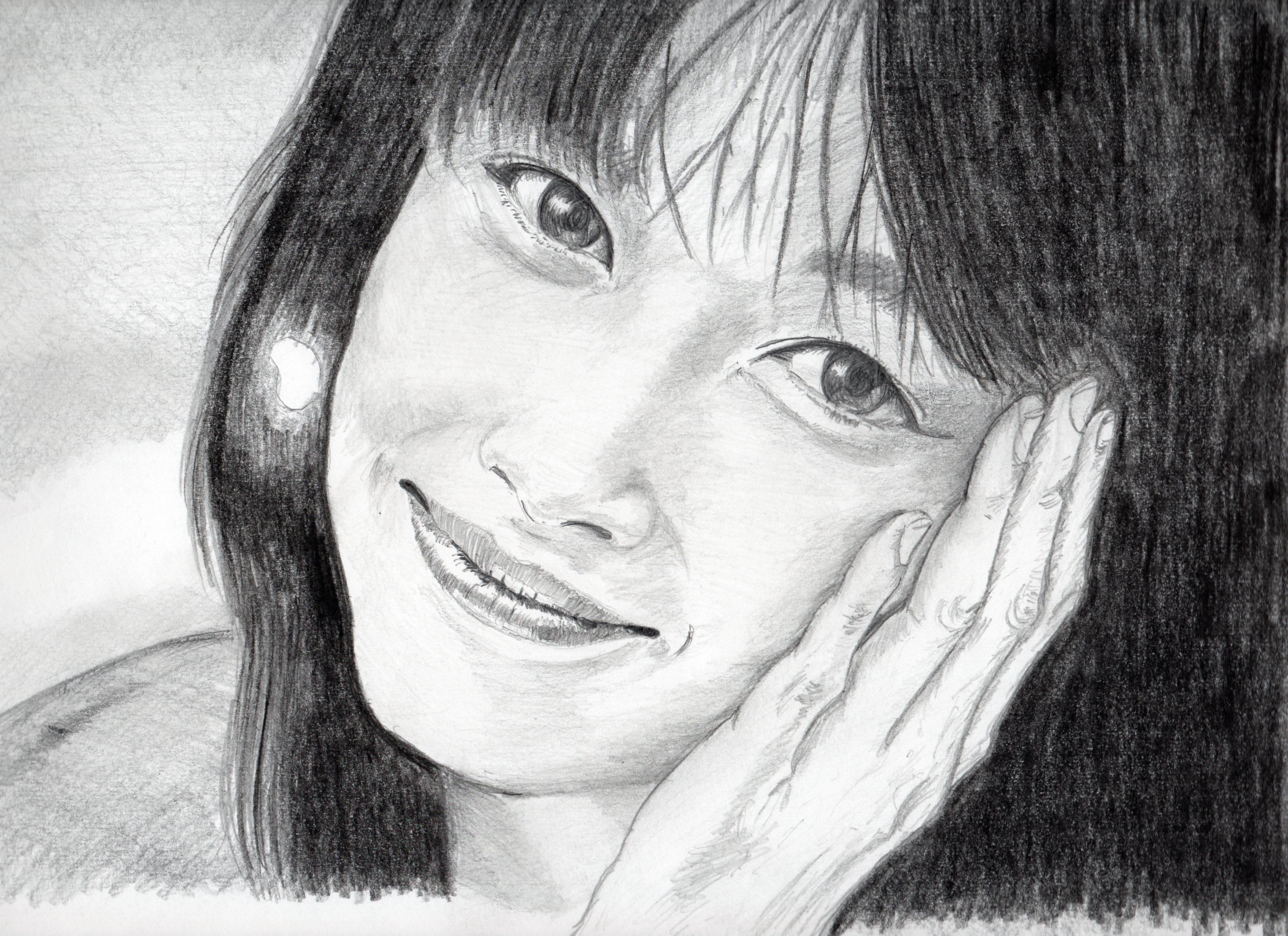 夏目雅子の鉛筆画、夏目雅子のリアル似顔絵