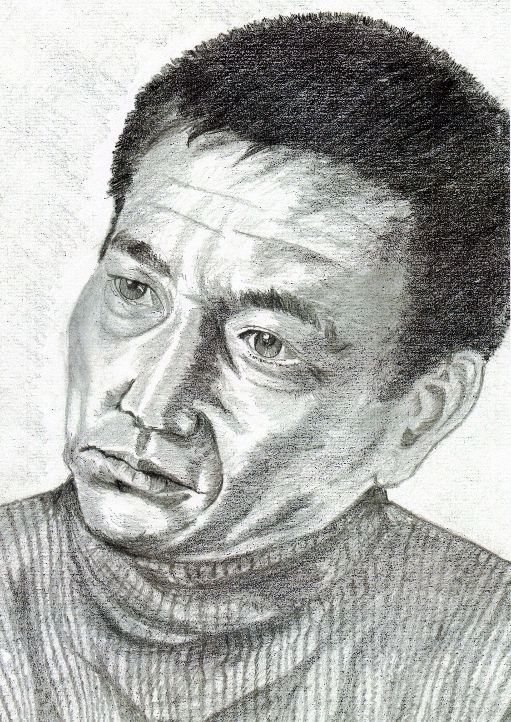 高倉健さんの鉛筆画、高倉健さんのリアル似顔絵