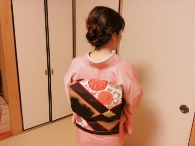 ピンクの小紋