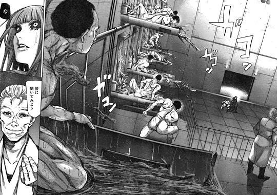 東京喰種:re92話 大量生産されたクインクスと戦うクロナ