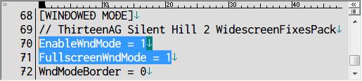 SILENT HILL 2 Enhanced Edition インストール方法と日本語化メモ、Silent Hill 2 Enhancement の d3d8.ini ファイルに記述されている [General] セクションにある FullscreenWndMode を 1 にした場合ボーダーレスウィンドウでゲームが起動