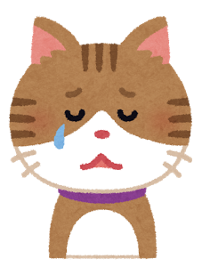 ネコ(泣く