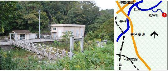 岩津発電所マップ
