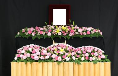 花祭壇 家族葬 豊川 花屋 花夢