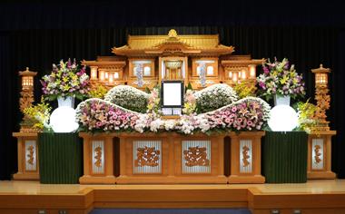ピンク ガーベラ 花祭壇 豊川 花屋 花夢