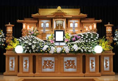 ピンポンマム ナチュラルカラー 花祭壇 豊川 花屋 花夢