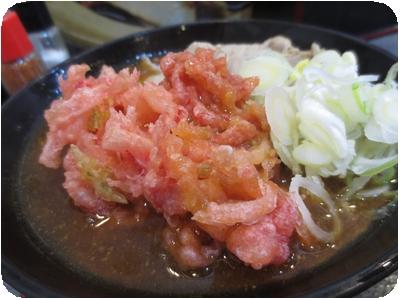 カレーそば+紅生姜天