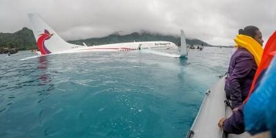 【衝撃!】ニューギニア航空着水事故の生々しい救出劇の一部始終!(衝撃映像)