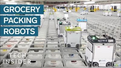 【スゴイ!】イギリスの食料品倉庫・・・ロボットが1日約10,000件処理!