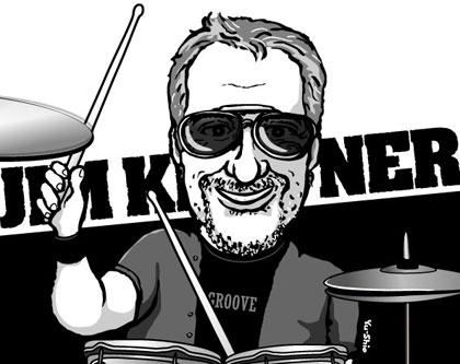 Jim Keltner caricature