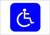 車椅子の標識テンプレート・フォーマット・雛形