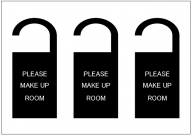 PLEASE_MAKE_UP_ROOMのドアノブサインテンプレート・フォーマット・雛形