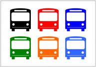 バスのフリー素材テンプレート・画像・イラスト