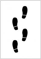 足跡のフリー素材テンプレート・フォーマット・雛形
