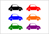 自動車のフリー素材テンプレート・画像・イラスト