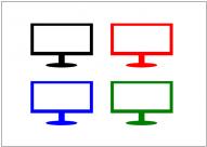 液晶テレビのフリー素材テンプレート・画像・イラスト
