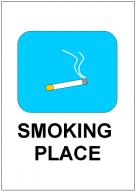 SMOKING PLACEの張り紙テンプレート・フォーマット・雛形