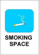 張り紙(SMOKING SPACE)テンプレート・フォーマット・雛形