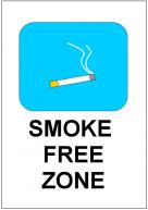 SMOKE FREE ZONEの張り紙テンプレート・フォーマット・ひな形