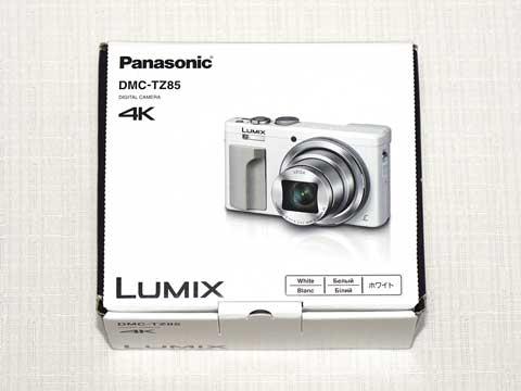 【LUMIX DMC-TZ85-W】パッケージ(撮影:α6000)