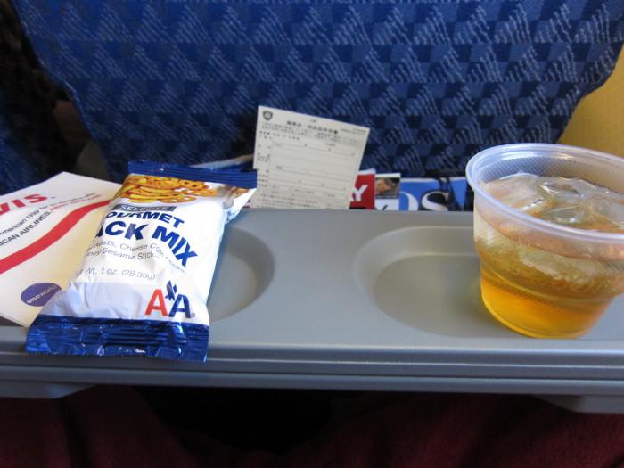 AA アメリカン航空 機内食