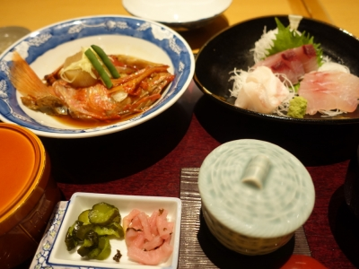 館山 波奈 金目鯛と刺身